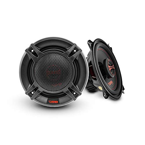 DS18 GEN-X5.25 Coaxial Speaker - 5.25', 2-Way, 135W Max, 45W RMS, Black Paper Cone, Mylar Dome Tweeter, 4 Ohms - Clarity Unparalled by Other Speakers in Their Class (2 Speakers), Model:GENX525