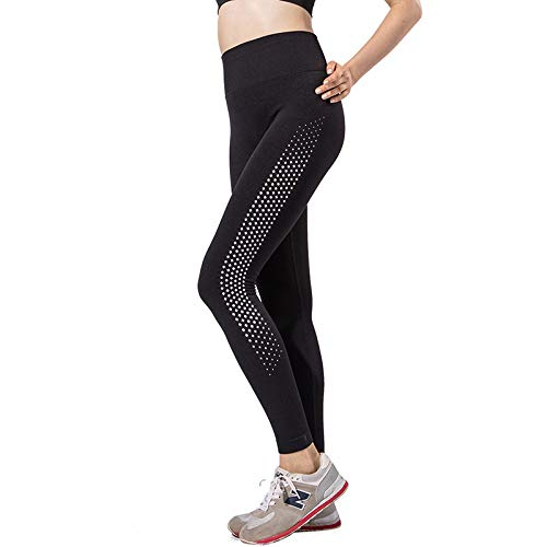nonbranded Srapantalones de yoga pantalones flacos femeninos sección running finos de secado rápido polainas de yoga S negro