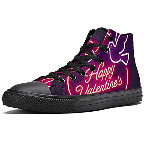 LORIES - Zapatillas de deporte para hombre con diseño de corazón de neón 3D de San Valentín, (multicolor), 44.5 EU