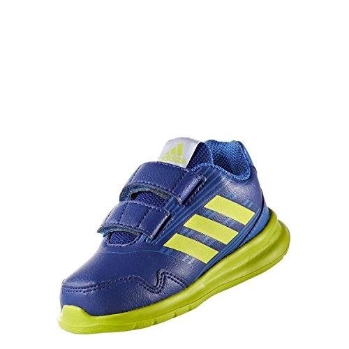 adidas AltaRun CF 1 Kinder Kleinkinder Sneaker Low Sportschuh Klettverschloss Eco Ortholite Blau/Neon Grün