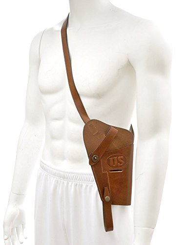 World War Supply US M3 .45 Shoulder Holster Tanker Holster for Colt M1911 and Similar Sized Semi Autos