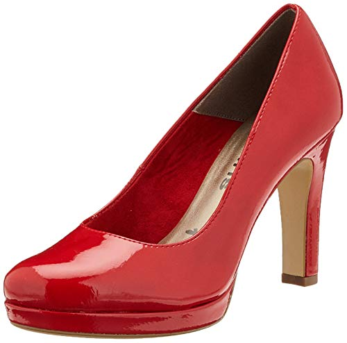 Tamaris Damen 1-1-22426-24 Pumps, Rot (Chili Patent 520), 41 EU