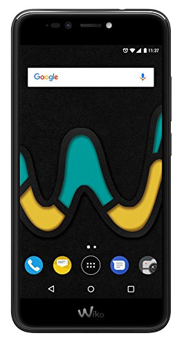 mächtig Wiko U Pulse Black (Smartphone, 5,5-Zoll-HD-Bildschirm, 13-Megapixel-Kamera, 8-Megapixel-Selfie-Kamera, Android,…