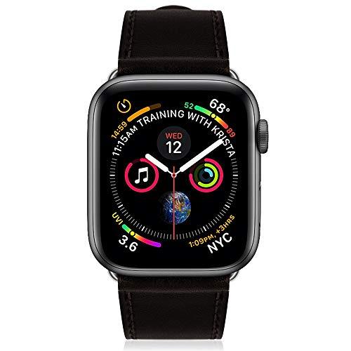 Kades Ersatzarmband für Apple Watch, echtes Leder, Retro-kompatibel für iWatch