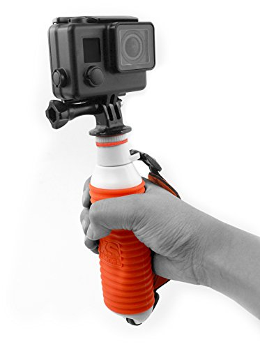 XSories U-Float, Waterdichte Camera Paal met GoPro Mount, Past op GoPro 3, GoPro 3+, GoPro 4, alle Digitale Camera's, GoPro Accessoires, Camera Accessoires (Oranje), WHITE-ORANGE, Sans