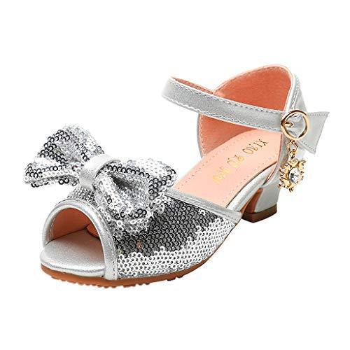 Cuteelf Mädchen Glitter Pailletten Prinzessin Kleid Party Tanzschuhe Kinderschuhe Kristall Leder Einzelne Schuhe Party Prinzessin Partei Schuhe Sandalen