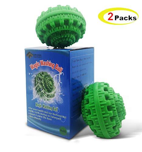 WLMall Bola de Lavado, Bola Eco Magic para Lavadora - Bola Lavandería Moléculas de Aniones Respetuosas con el Medio Ambiente Liberadas - hasta 1000 de Lavado