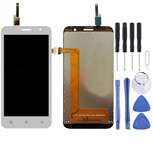 MINGXIAN Replace LCD Screen and Digitizer Full Assembly for Lenovo A8 / A806 / A808T (Color : White)