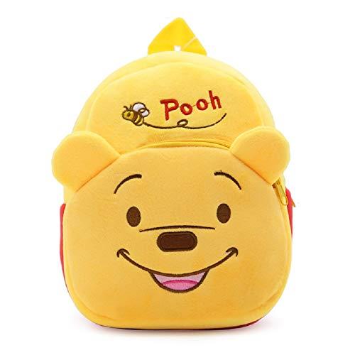 CHDJ Cartoon Süßer kleiner Kleinkind Mini Plüsch Rucksack für Baby Mädchen Jungen Alter 1–3 Jahre Gelb Winnie The Pooh 3 Jahre