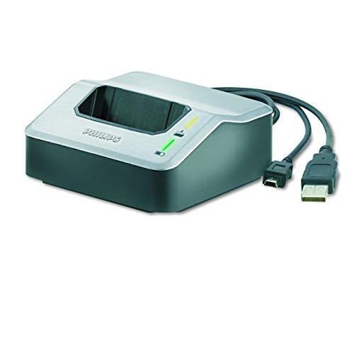 Philips LFH9120 Dockingstation für digitale Philips Diktiergeräte der der Serien LFH96xx, LFH95xx, LFH93xx, silber