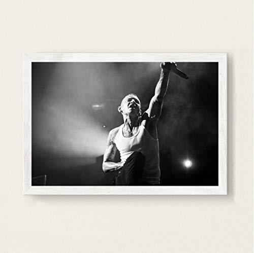 PCCASEWIND Modern Bilder Wandbild 50X70Cm,Chester Bennington Linkin Park Musik Sänger Star Art Malerei Leinwand Wandposter Home Decor Ao-591