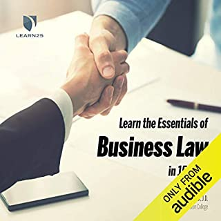 Learn the Essentials of Business Law in 15 Days audiobook cover art