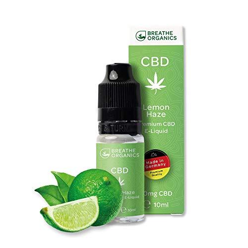 Premium CBD Liquid Lemon Haze von Breathe Organics® | E Liquid ohne Nikotin mit 600 mg CBD | 100% natürliche Terpene | Cannabidiol Liquid | VGmax Basis