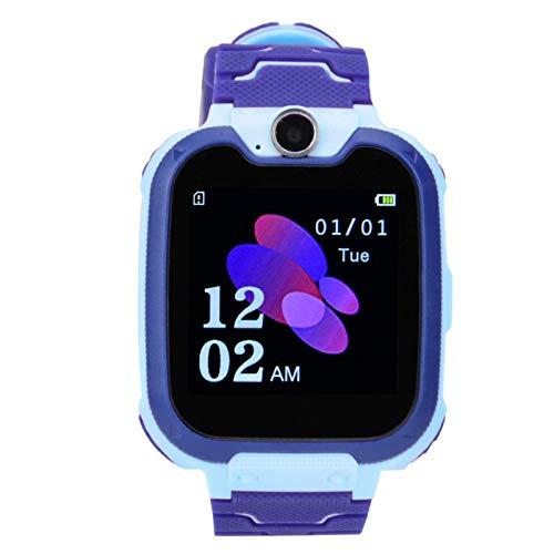 Jingyig Reloj electrónico, Toma de fotografías, Silicona y Materiales ABS, Reloj Inteligente, Impermeable, Reloj de iluminación para Llamadas de Emergencia, para niños, niños(Blue)