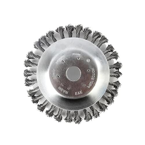 Cepillo de corte para malezas Cepillo de alambre de acero redondo Eliminación de óxido para recortadoras de hilo Eliminación de óxido Cepillo de alambre de acero redondo apto para adoquines Juntas de