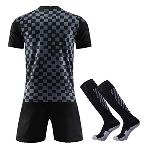 Männer Fußball-Trikots Team-Set Kinder,2020 Croatia Fan Fußball Kleidung, Heim- Und Auswärts Sport Uniformen, Fußball-Klagen Set T-Shirt + Shorts + Socken No Logo Away-XL