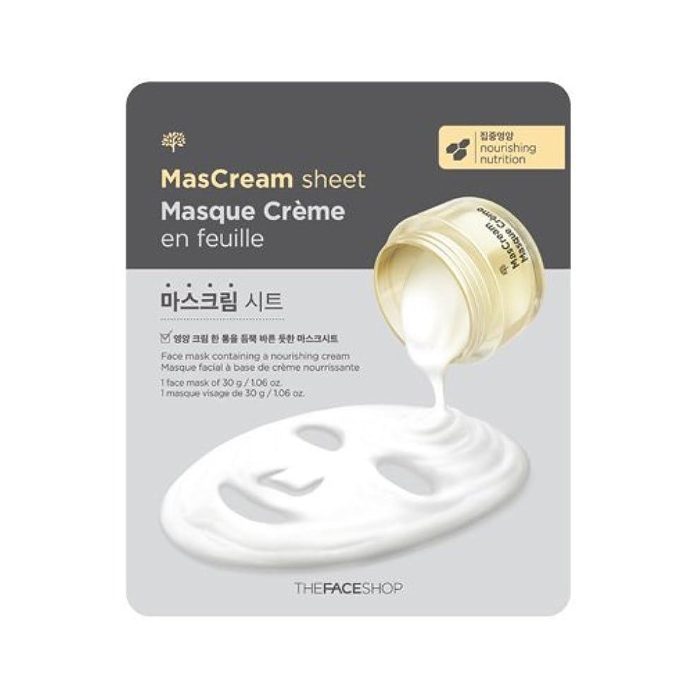 答え持参ファンブルザフェイスショップ [THE FACE SHOP] MASCREAM SHEET x 5sheets マスクリームパック 5枚 (栄養/NOURISHING) [並行輸入品]