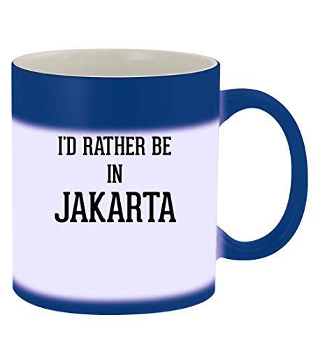 I'd Rather Be In JAKARTA - 11oz Magic Color Changing Mug, Blue