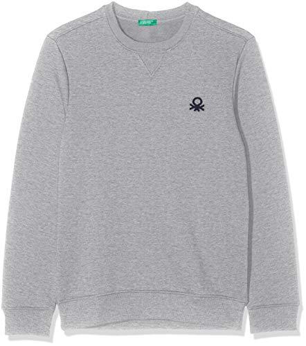 United Colors of Benetton Herren Basico 2 Man Sweatshirt, Grau (Grigio Melange 501), XX-Large (Herstellergröße: EL)