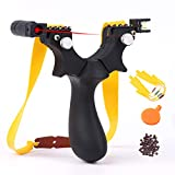 ANCCI High Velocity Hunting Slingshot with Adjustable Fiber Optic Sight Resin/Steel Sling Shot Catapult Slingshots with Replacement Rubber Bands and Shoot Ammo Balls