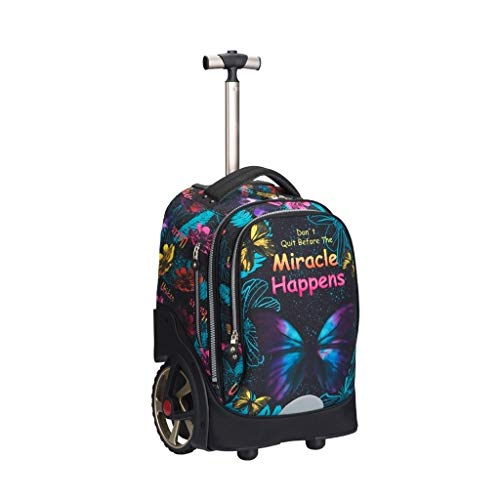 LYRWISHLY Kids Trolley Bag with Wheels - Child School Wheeled Luggage Bag Trip Zipper Backpack for Boys Girls Children Student,Multifunction Wheeled Backpack Luggage (Size : A)