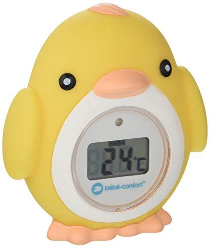 Bébé Confort Thermomètre de Bain électronique Poussin, Thermomètre de Bain pour Bébé en Forme de Poussin, Convient dès la Naissance