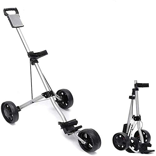 Learn More About YAOLAN 3 Wheel Golf Trolley with Foot Brake, and Scorecard Adjustable Easy Carry an...