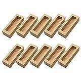 Cabilock 10 Piezas de Cajas de Panadería de Cartón Kraft con Ventana Transparente Mini Cajas de Pastel Cajas de Galletas Caja de Embalaje de Repostería para El Hogar Y La Tienda