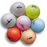 Crystal Color Golf Balls - Mint Quality - Mixed Colors Brands & Styles - 24 Golf Balls (AAAAA 5a), One Size