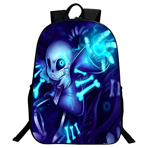 SJYMKYC Undertale Sans Mochila, Student Bookbag Laptop Backpack Bolsa De Computadora De Viaje Para Niños, Niñas, Niños Y Adolescentes Juego Fans