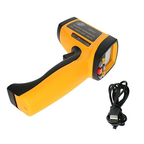 Sharplace GM900 LCD-Digital Infrarot Thermometer/Pyrometer, 30ºC bis 1650ºC, LCD Beleuchtung