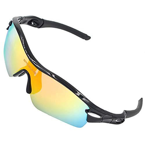 ZLUCKHY Gafas De Sol Deportivas Polarizadas 5 Lentes Intercambiables, Gafas De Ciclismo para Hombres Y Mujeres, Carrera De Béisbol, Escalada, Golf (Color : Rojo)
