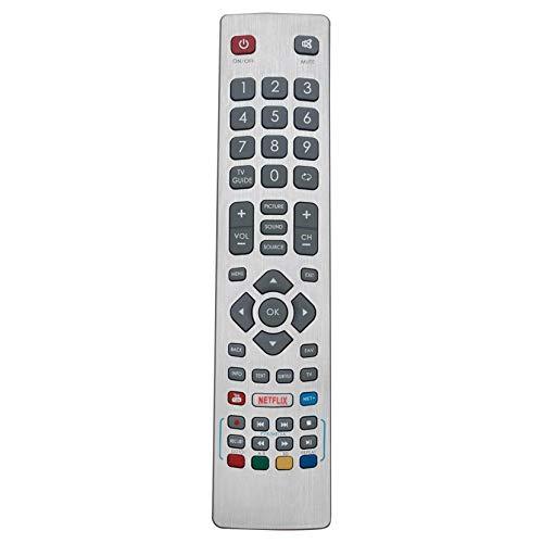 VINABTY SHWRMC0115 Control remoto reemplazado por Sharp Aquos LCD LED 3D HD Smart TV con Netflix YouTube UHD 4K Freeview LC-32HG5141K LC-40UG7252E Lc-49ui7252k Lc-40ui7352k Lc-49ui7352k Lc-43ui7352k