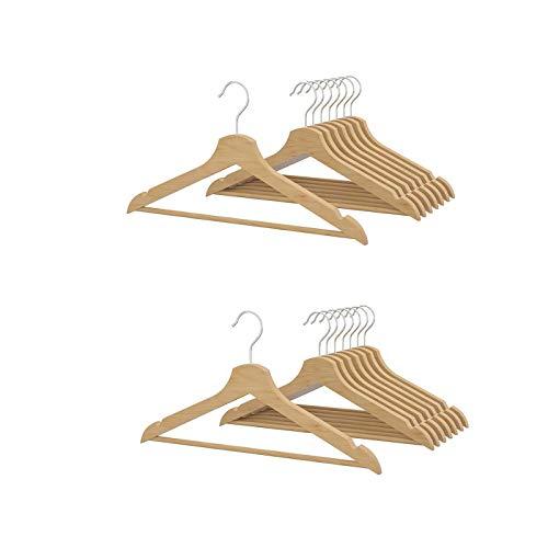 2 X Ikea Bumerang – Appendiabiti in legno, colore natura, confezione da 8 pezzi