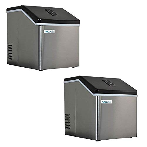 NewAir ClearIce40 Portable Countertop Ice Maker Machine, Stainless (2 Pack)
