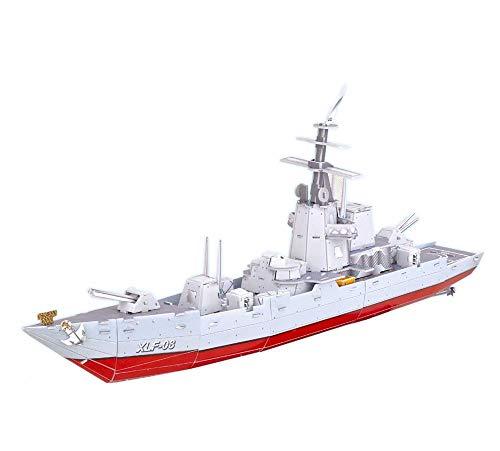 Juguete serie militar super acorazado crucero barco 3D papel DIY rompecabezas modelo niños chico regalo juguete juego
