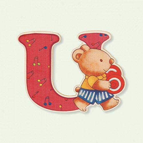 Dida - Lettre U Bois Enfant - Lettres Alphabet Bois pour Composer Le nom de Votre bébé et décorer la Chambre