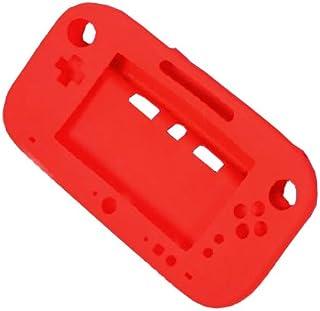 OSTENT Capa de gel de proteção total de silicone macio compatível com Nintendo Wii U Gamepad cor vermelha