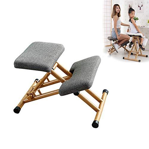 Anillo de la rodilla silla ergonómica, para los hijos de la madera actitud rodilla silla anillo de adulto casa / oficina, aliviando la presión de nuevo en el campo de la almohadilla de espuma,Gris