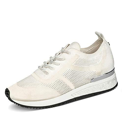 La Strada Damen 1905752 Sneaker Low Metallic Uni Glitzereffekt Sohle hemmend, Groesse 38, weiß