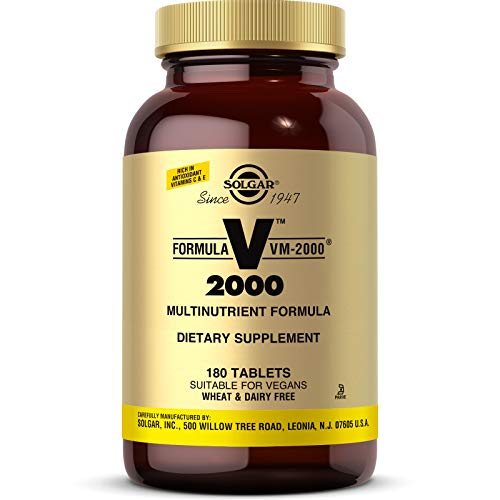 Solgar Formula VM-2000 (Multinutrient System), 180 Tablets - Premium Quality Multiple - Contains Zinc - Supports A Healthy Immune System - Vegan, Dairy Free, Kosher - 90 Servings