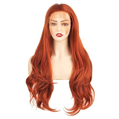 Synthétique avant de dentelle perruque femmes'S perruques pour les femmes noires avec le corps des cheveux Blonde Rose Ginger 60 Noir 613 Violet Cuivre Rouge Copper 24Inches