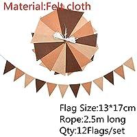 バナー 12の旗2.5mカラフルなフェルトペナントの旗台屋外の活動のレイアウトベビーシャワーの誕生日パーティーウェディングガーランドの装飾 (Color : B18-1set)