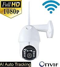ROMIX AI Auto Tracking 2MP 1080P 3X Digital Zoom Mini PTZ IP Camera with Onvif, 2-Way Audio and Area Alarm