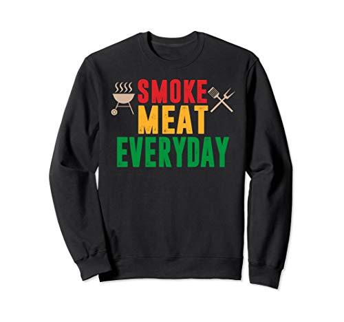 Witziges Smoke meat everyday, Geschenk, BBQ, Grill Herren Sweatshirt