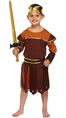 Islander Fashions Ni�os Disfraz de Soldado del Imperio Romano Disfraz de Gladiador Griego Soldado para Mujer Disfraz Peque�o (4-6 a�os)