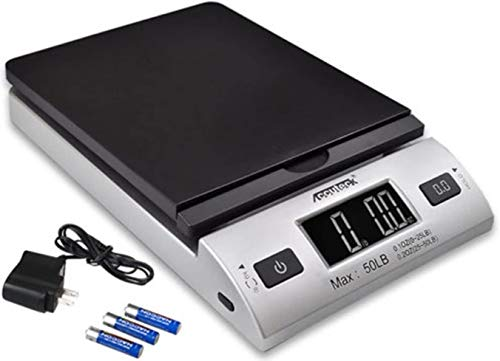 ACCUTECK All-in-1 Series W-8250-50bs A-Pt 50 Digital Shipping Postal Scale with Ac Adapter, Silver, 1 Pack