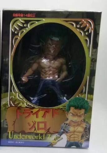 Anime One Piece Underworld Roronoa Zoro Sanji Monkey D Luffy con Tatuaje PVC Figura de acción Juguetes 15cm, Zoro con Caja