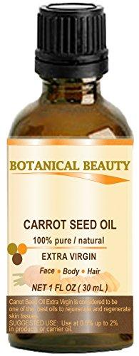 Olio di semi di carota 100% puro/naturale/extra vergine/non raffinato/pressato a freddo/Undiluted Carrier oil. 1fl. oz-30ml ml. Pelle, corpo e cura dei capelli. By Botanical beauty