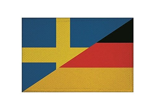U24 Aufnäher Schweden-Deutschland Fahne Flagge Aufbügler Patch 9 x 6 cm